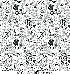wedding - seamless pattern