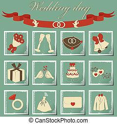 wedding set - set of wedding icons