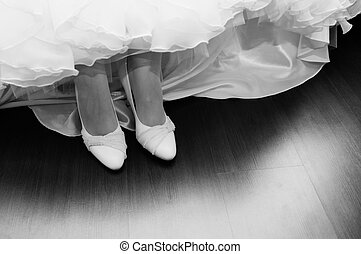 Wedding shoes for the bride