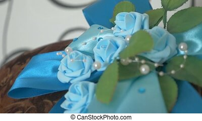 Wedding small blue roses video - Wedding small blue roses...