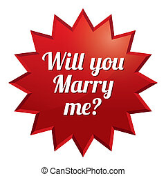 Wedding star. Will you marry me sticker.
