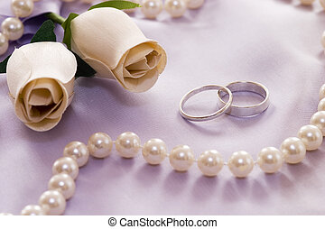 wedding still life in soft light