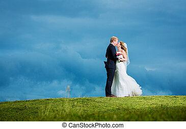 Wedding, Happy couple in love