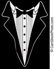 Wedding Suit - Black tuxedo design on black.