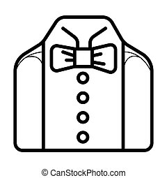 Wedding suit icon, businessman