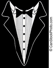 Wedding Suit - Black tuxedo design on black.