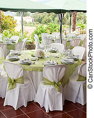 Wedding table - gorgeous wedding chair and table setting for...