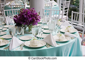 Wedding Table - Fancy table settings during a wedding or...