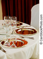 wedding table set for dining