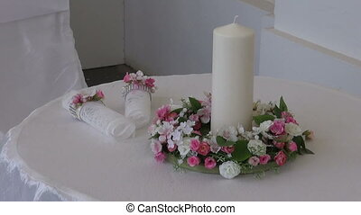 wedding table with two chair