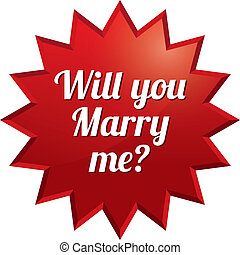 Wedding tag. Will you marry me sticker.