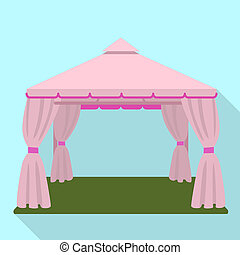Wedding tent icon, flat style