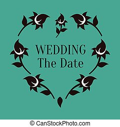 Wedding The Date Vector Image