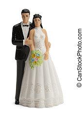 Wedding Topper - Wedding Cake Topper Isolated on White...
