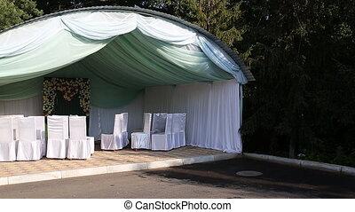 Wedding venue tent white color