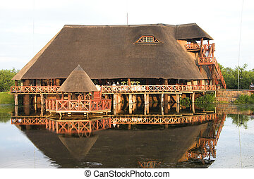 Wedding Venue - Wedding venue situated on a lake, reflection...