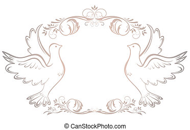 Wedding vintage frame