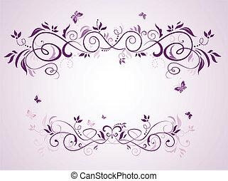 Wedding violet frame