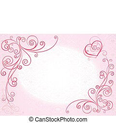 wedding_card - figured background with hearts
