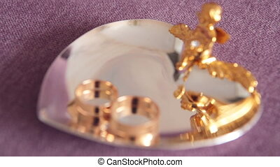 Weddings rings in closeup