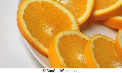 wedges orange on white background