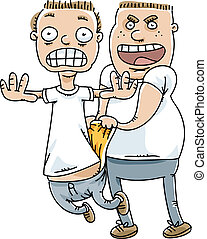 Wedgie Bully - A bully pulls a wedgie on an unsuspecting ...