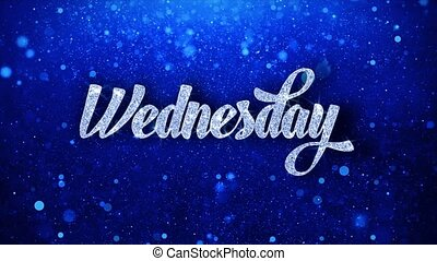 Wednesday Blue Text Wishes Particles Greetings, Invitation, ...
