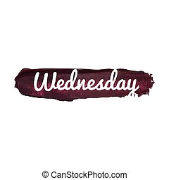 Wednesday, day of the week. weekend vector word hand drawn illustration icon card isolated quote