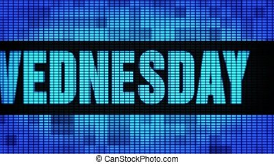 Wednesday Front Text Scrolling LED Wall Pannel Display Sign...