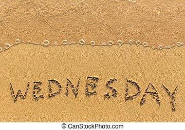 Wednesday - hand-written