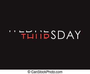 wednesday to thursday turning text