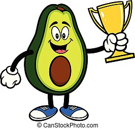 wedstrijdbeker, avocado, mascotte