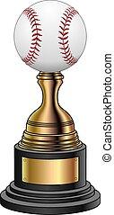 wedstrijdbeker, ba, goud, -, honkbal, black
