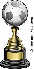 wedstrijdbeker, goud, -, base, black , voetbal