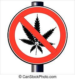 Weed Ban Sign