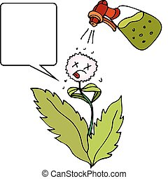 Weed Killer - An image of a weed killer sprayed on a weed.