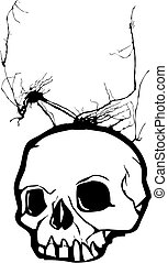 Weed Skull - Skull with weeds growing from its cranium.