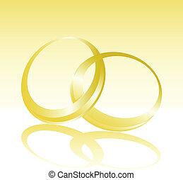 weeding gold ring