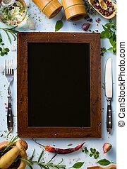 week, achtergrond;, restaurant, het koken, thuis, kunst, italiaanse