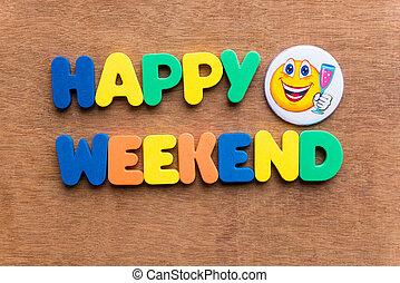 week-end, heureux