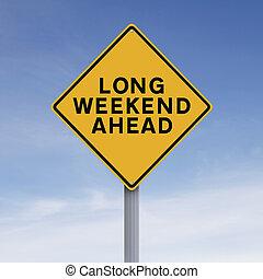 week-end, long, devant