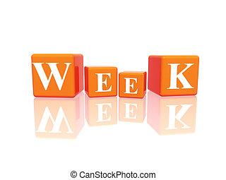 week in 3d cubes