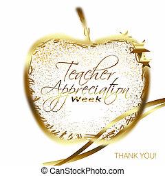 week, leraar, appreciatie