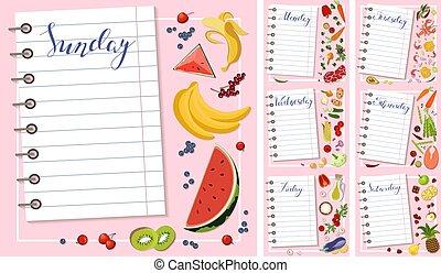 week, plan, dieet