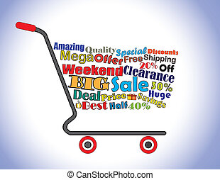 Weekend Clearance Sale Cart Concept