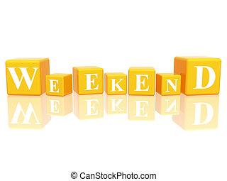weekend in 3d cubes