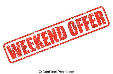 WEEKEND OFFER red stamp text