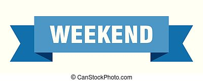 weekend ribbon. weekend isolated sign. weekend banner