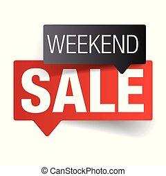 Weekend sale label tag vector