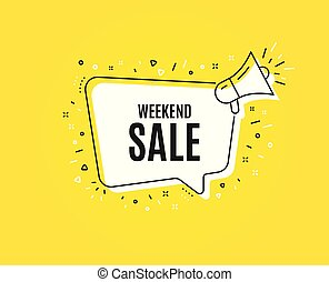 Weekend Sale. Special offer price sign. Vector